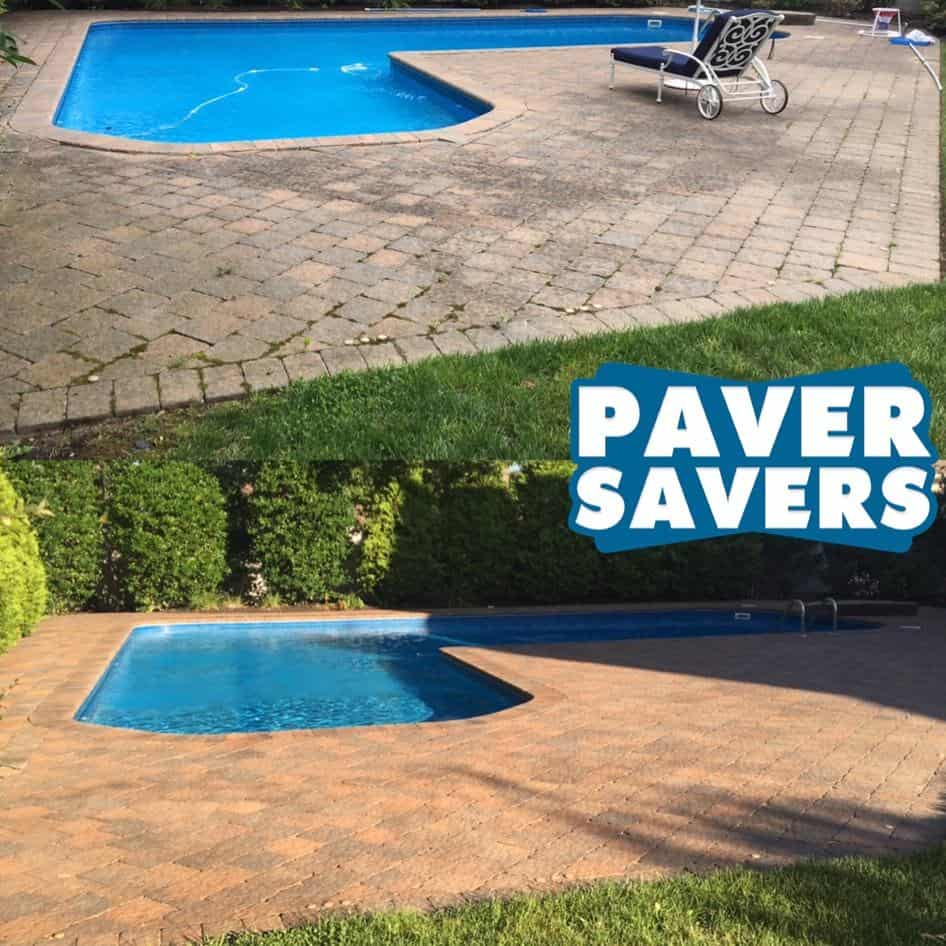 Paver Cleaning Before and After